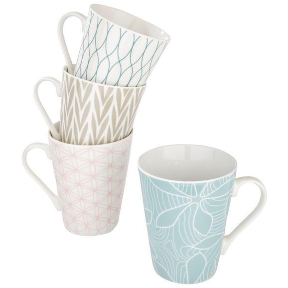 Cană Pentru Cafea Gisi - albastru deschis/roz deschis, ceramică (9,5/10,6cm) - Modern Living