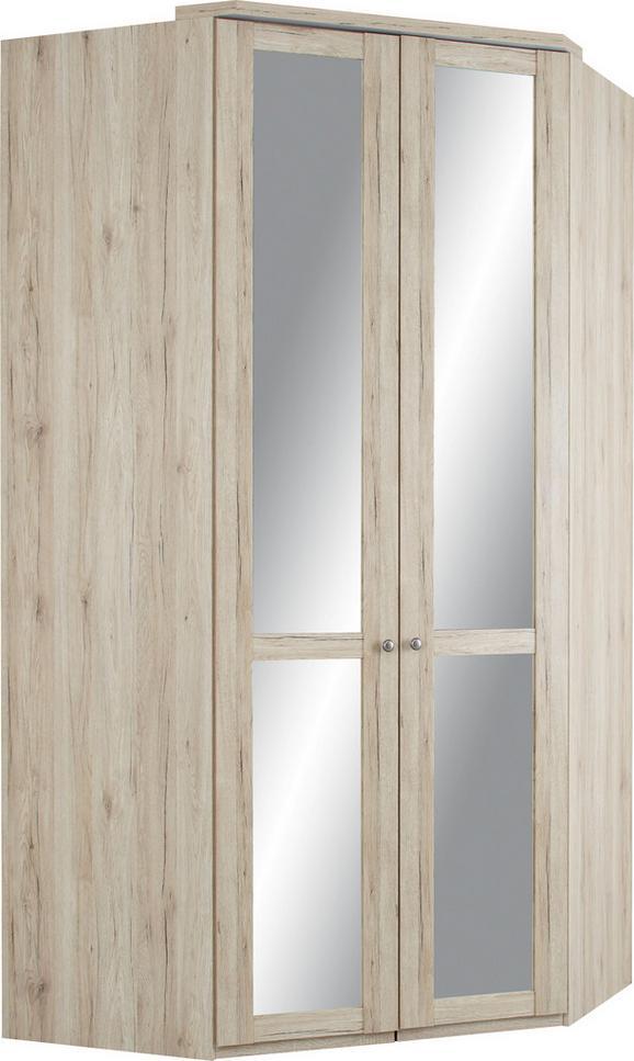 Eckschrank Eiche/spiegel - Eichefarben, ROMANTIK / LANDHAUS, Holz/Holzwerkstoff (120/234/120cm) - PREMIUM LIVING