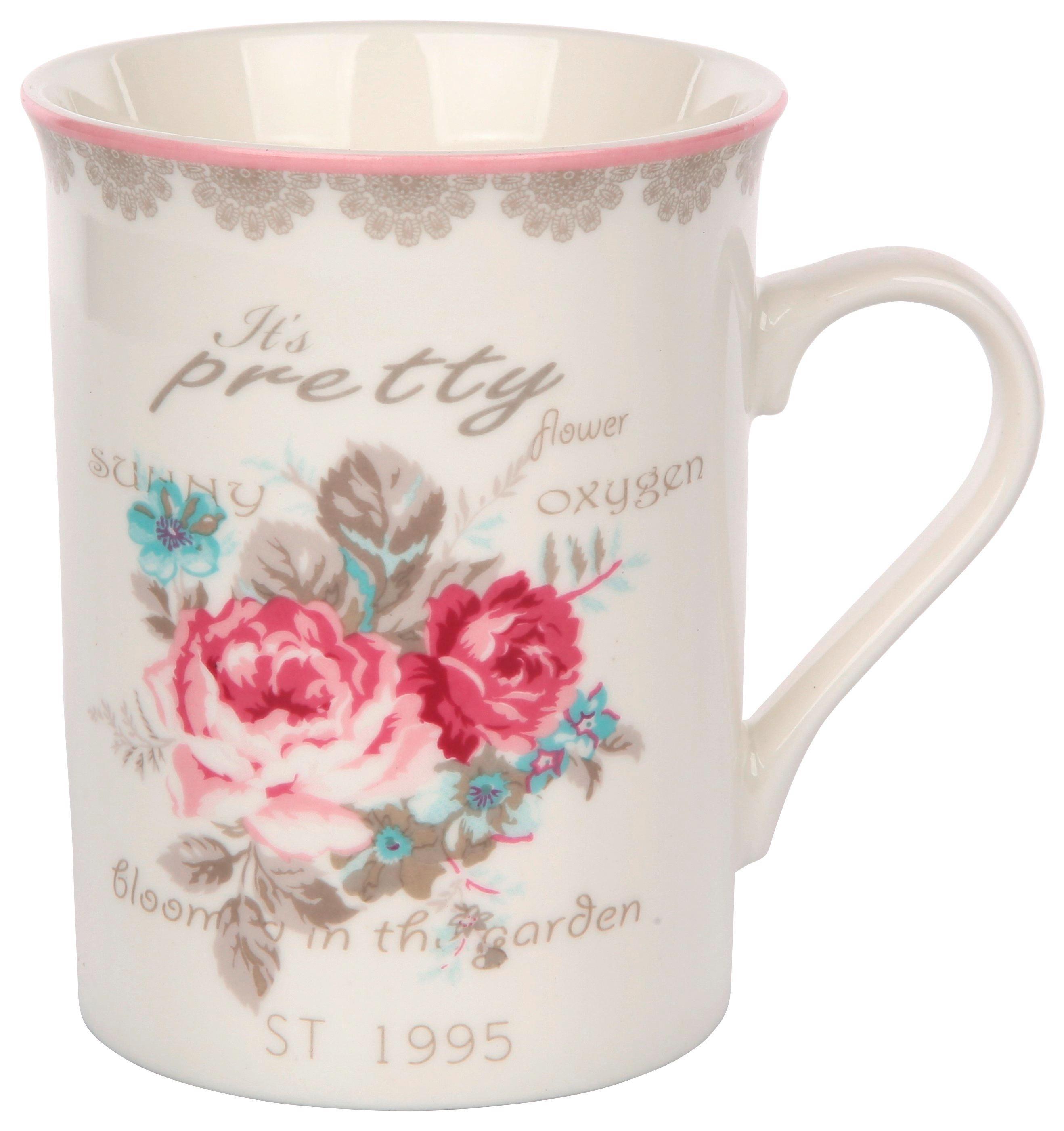 Skodelica Rose - večbarvno, keramika (0,28l)
