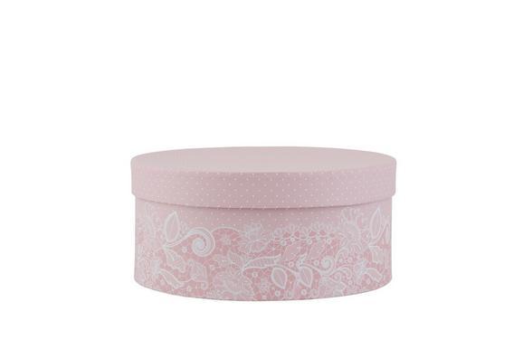 Geschenkbox Lilette in Rosa/Weiß - Rosa/Weiß, ROMANTIK / LANDHAUS, Karton (21,5/9,5cm) - MÖMAX modern living