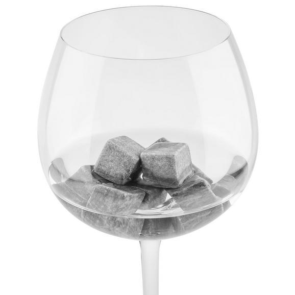 Mehrweg-Eiswürfel Chilling Stones in Dunkelrau - Dunkelgrau, MODERN, Stein (15,5/10,5/3cm) - Premium Living