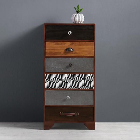 Kommode Heather - Multicolor, MODERN, Holz/Keramik (50/102/35cm) - Mömax modern living