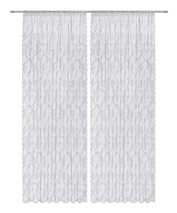 Fertigvorhang Babette, ca. 140x245cm - Weiß, ROMANTIK / LANDHAUS, Textil (140/245cm) - Mömax modern living