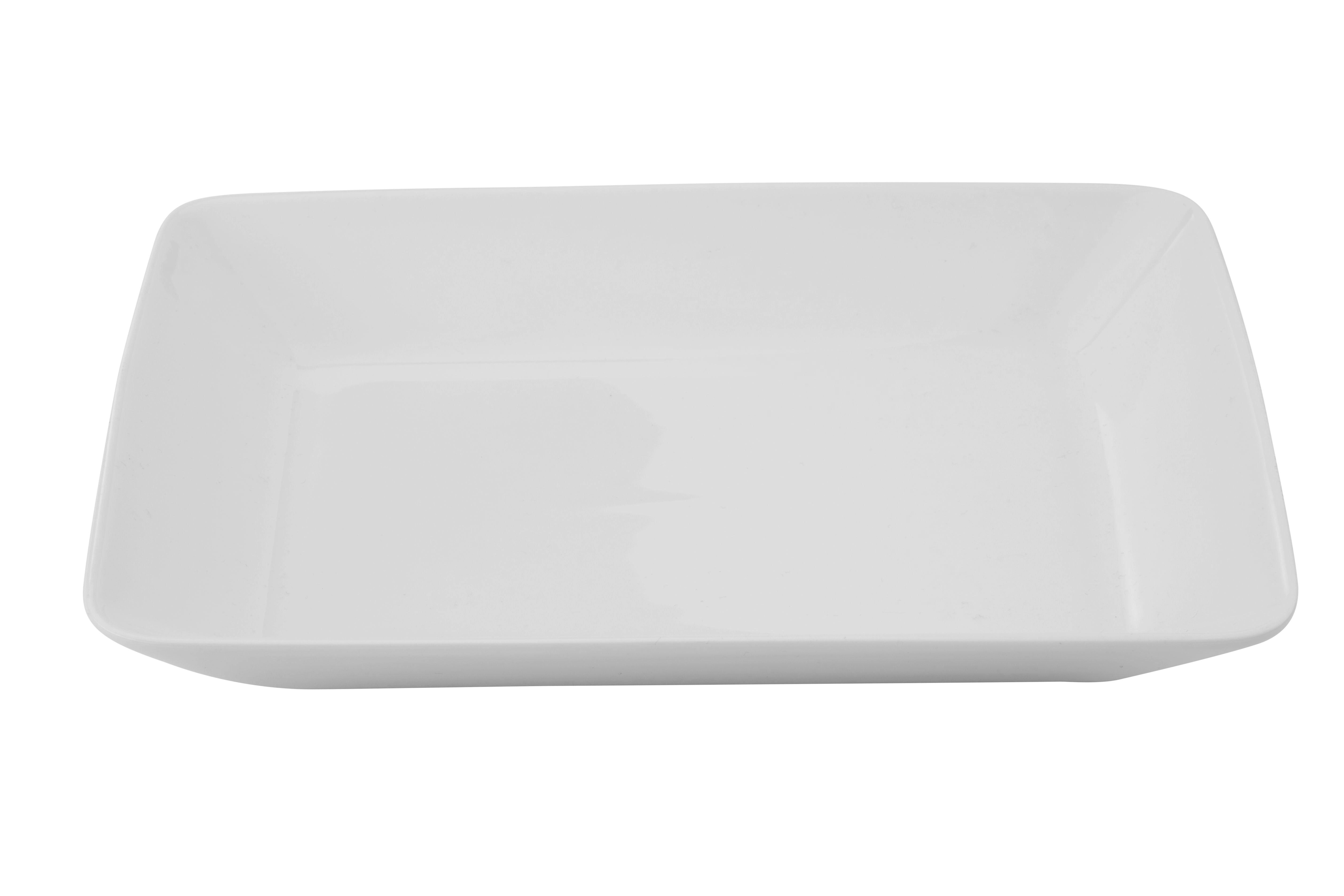 Suppenteller Marina in Weiß - Weiß, MODERN, Keramik (23/17,8/3,5cm) - PREMIUM LIVING