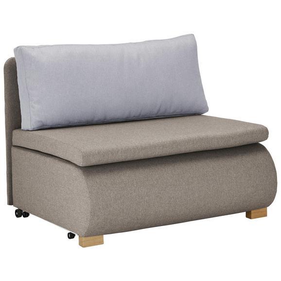 Schlafsessel in Beige mit Rückenkissen - Beige, KONVENTIONELL, Holz/Kunststoff (100/80/100-193cm) - Modern Living