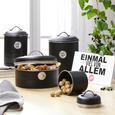 Cutie Alimentară Urban - argintiu/negru, Modern, metal (17,5/24cm) - Mömax modern living