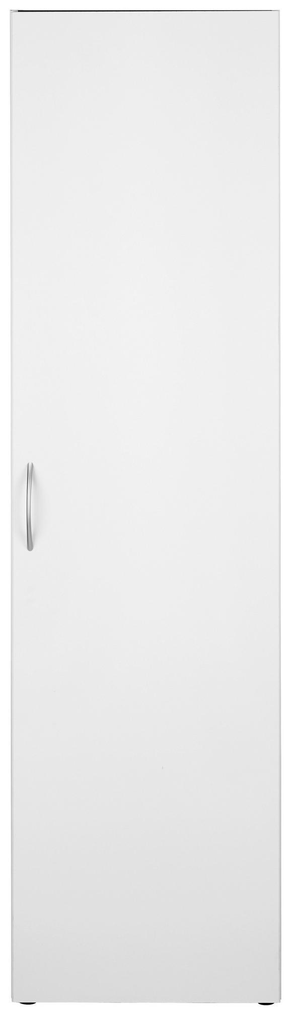 Večnamenska Omara Mrk - aluminij/bela, umetna masa/leseni material (50/185/40cm)