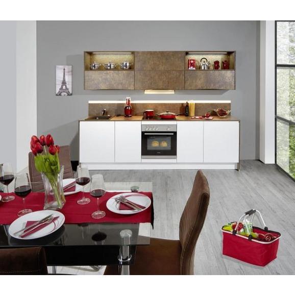 Kuhinjski Blok Ibarra - bron/bela, Moderno, leseni material (273,2cm)