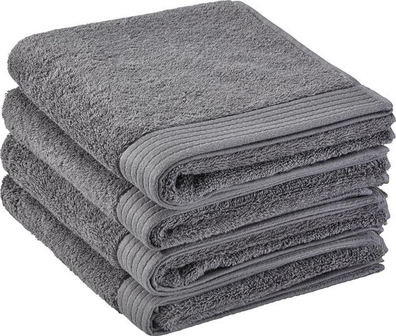 Handtuch Dolly 50x100cm - Dunkelgrau, KONVENTIONELL, Textil (50/100cm) - MÖMAX modern living