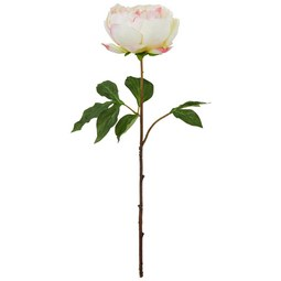 Kunstblume PEONIE I Rosa - Dunkelgrün/Rosa, Basics, Kunststoff (59cm)