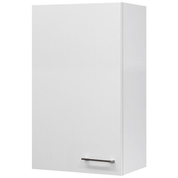 Küchenoberschrank Weiß - Edelstahlfarben/Weiß, MODERN, Holzwerkstoff/Metall (50/89/32cm) - FlexWell.ai