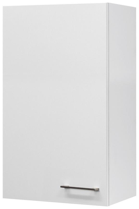 Küchenoberschrank Weiß - Edelstahlfarben/Weiß, MODERN, Holzwerkstoff/Metall (50/89/32cm)
