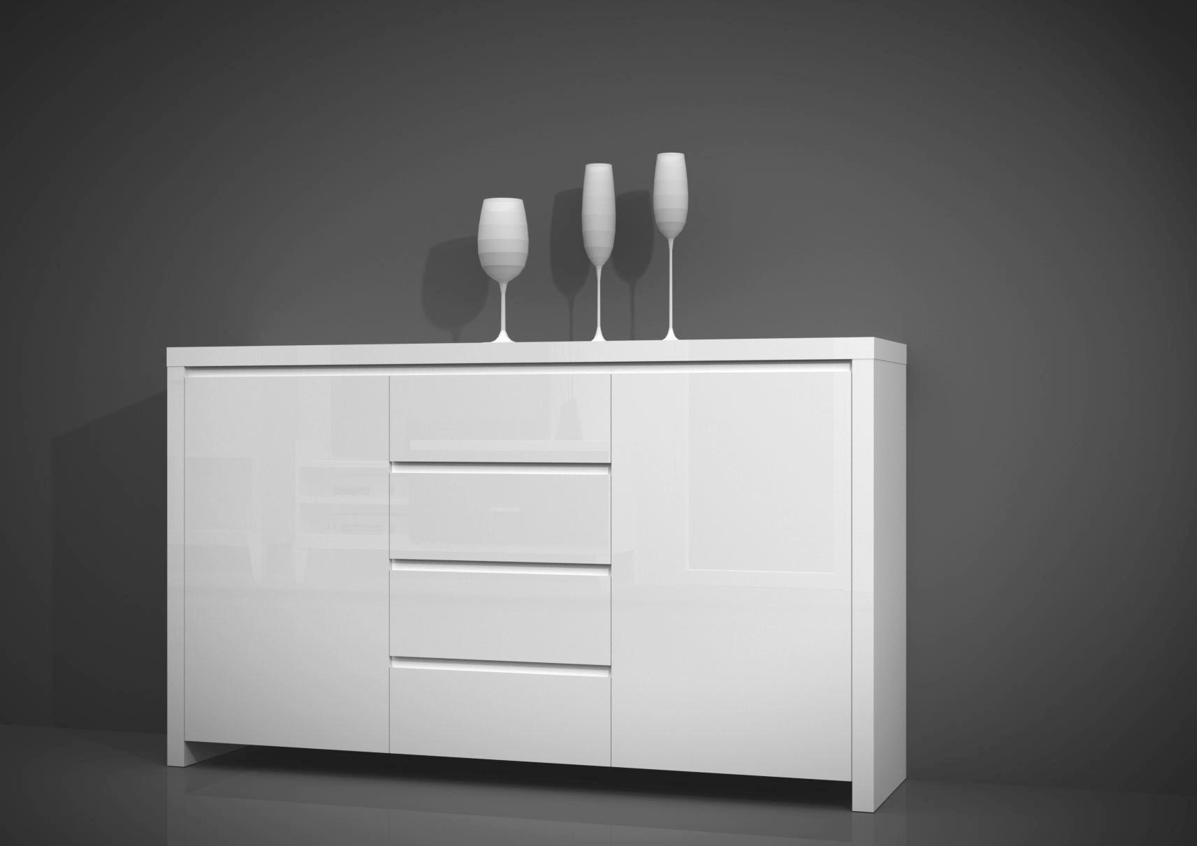 Sideboard in Weiß Hochglanz - Weiß, MODERN, Holzwerkstoff (190/75/40cm) - MÖMAX modern living
