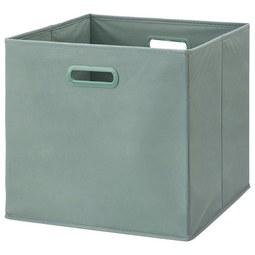Faltbox Elli Jadegrün - Jadegrün, MODERN, Karton/Textil (33/33/32cm) - Modern Living