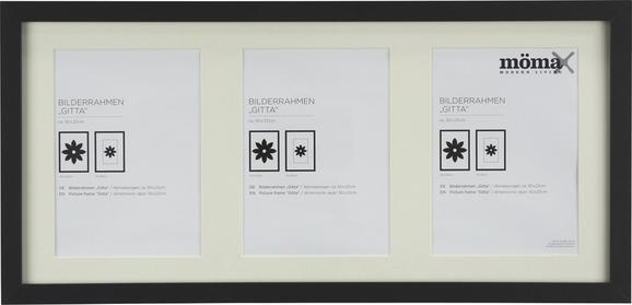 Bilderrahmen Gitta Schwarz ca. 23x50cm - Schwarz, MODERN, Glas/Holz (23/50cm) - Mömax modern living