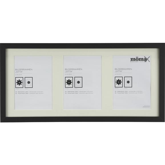 Bilderrahmen Gitta Schwarz ca. 23x50cm - Schwarz, MODERN, Glas/Holzwerkstoff (23/50cm) - Mömax modern living