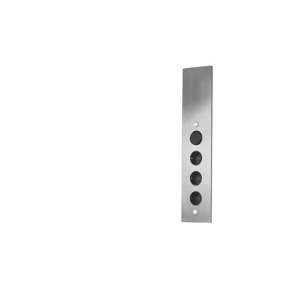 Element Z Vtičnicami St3007 - Romantika, kovina (8,2/46/8,2cm)