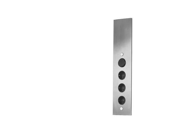 Steckdosenelement Edelstahl - ROMANTIK / LANDHAUS, Metall (8,2/46/8,2cm)