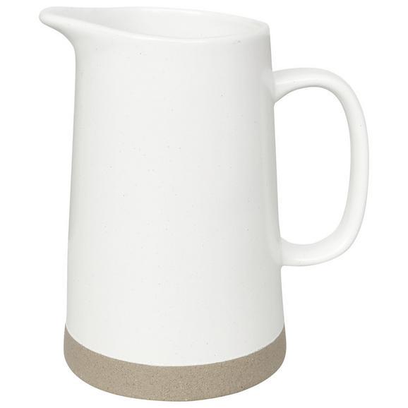 Carafă Albă Emilia - alb, Romantik / Landhaus, ceramică (15,9/17,5cm) - Zandiara