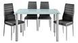 Jedilna Garnitura Wels - siva, Konvencionalno, kovina/steklo - Mömax modern living