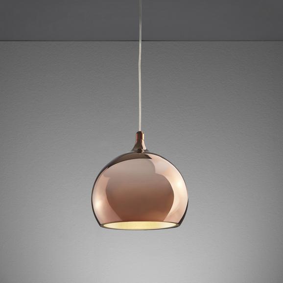Led Hängeleuchte Alex - Goldfarben/Kupferfarben, MODERN, Kunststoff/Metall (25/25/120cm) - Premium Living