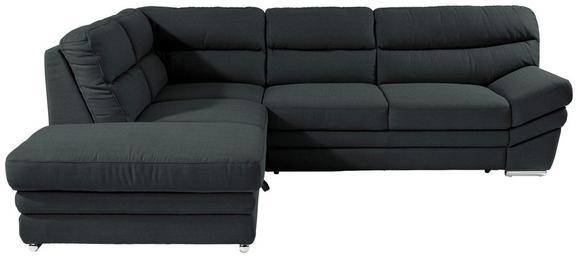 Sedežna Garnitura Victory - črna/krom, Konvencionalno, kovina/tekstil (217/264cm) - Premium Living