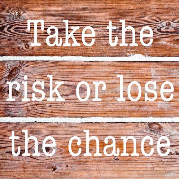 Steklena Slika Take The Risk - rjava, Konvencionalno, steklo (20/20/1,70cm)