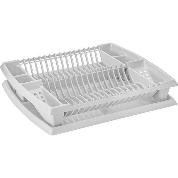 Geschirrabtropfkorb Helge Weiß - Weiß, Kunststoff (44,2/8,5/38,3cm) - Mömax modern living