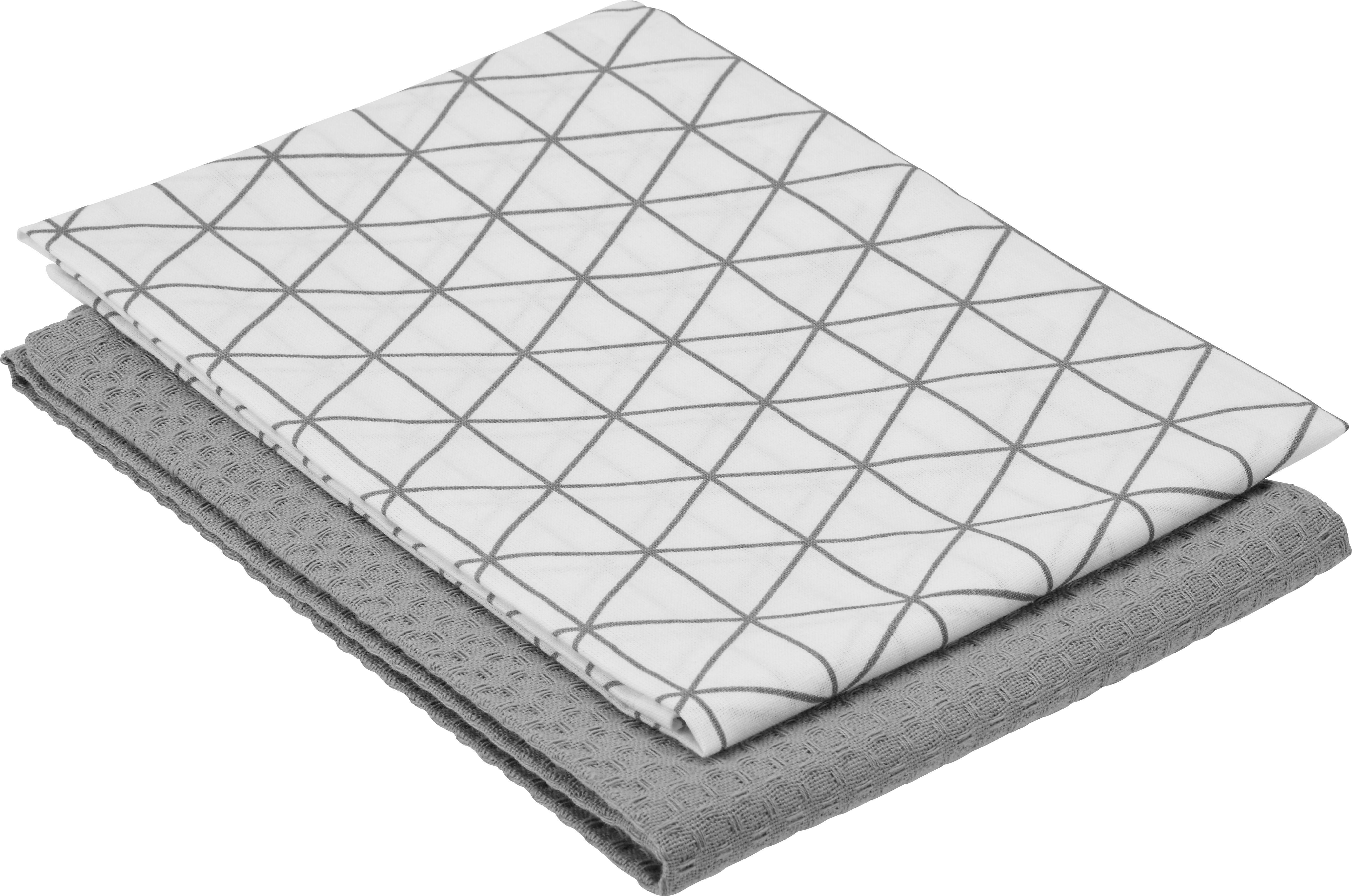 Geschirrtuch Kathi ca. 50x70cm - Grau, Textil (50/70cm) - MÖMAX modern living