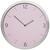 Wanduhr Sally Silber/rosa D: 30,5cm - Silberfarben/Rosa, Glas/Metall (30,5cm) - Mömax modern living