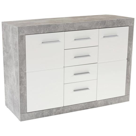 Komoda Malta - aluminij/siva, Moderno, umetna masa/leseni material (138/86/35cm) - Mömax modern living