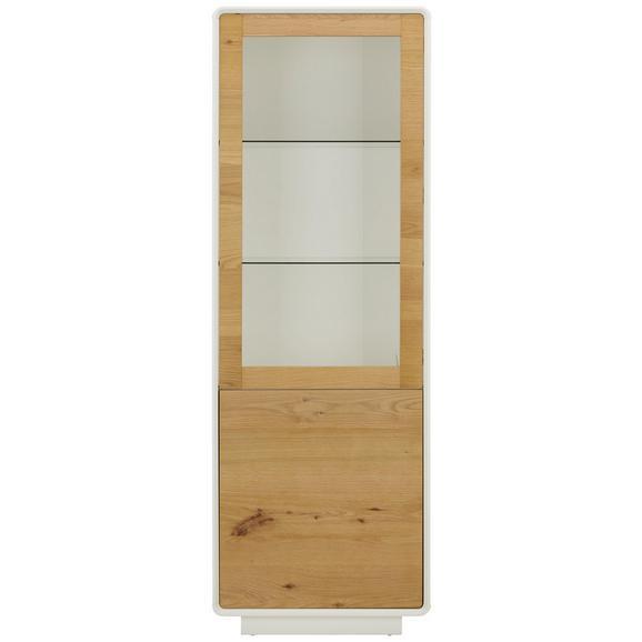 Vitrine in Naturfarben - Naturfarben/Weiß, MODERN, Glas/Holz (63/186/40cm) - Modern Living