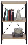 Regal Schwarz/Sonoma Eiche - Schwarz/Sonoma Eiche, MODERN, Holzwerkstoff/Metall (50/79/35cm) - Modern Living