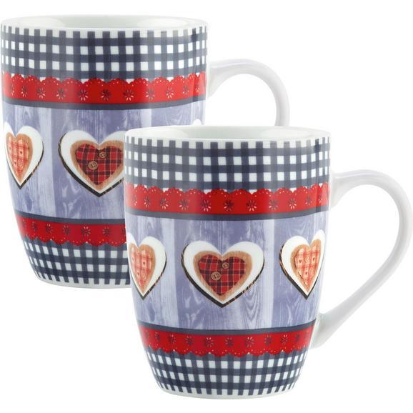 Kaffeebecher Heidi 2er Set - Multicolor, Keramik (8,5/10,4cm) - Mömax modern living