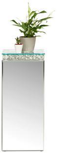 Blumensäule Klar/silberfarben - Klar/Silberfarben, MODERN, Glas/Holzwerkstoff (30/71/30cm) - Modern Living