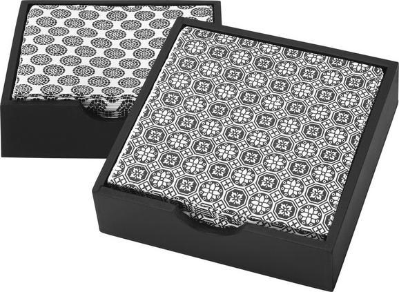 Serviette Shiva verschiedene Designs - Schwarz/Weiß, LIFESTYLE, Holz/Papier (12/12/3,5cm) - Mömax modern living
