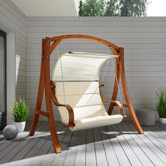 Hollywoodschaukel Wave - Lärchefarben/Naturfarben, MODERN, Holz/Textil (195/204/128cm) - Mömax modern living
