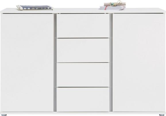 Sideboard in Weiß - Alufarben/Weiß, MODERN, Holzwerkstoff/Kunststoff (150/95/43cm) - MÖMAX modern living