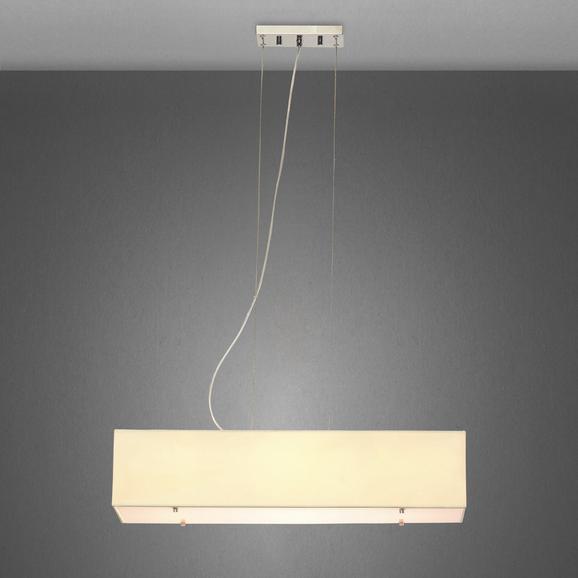 Pendelleuchte Angneta 4-flammig - Beige, Textil/Metall (72/22/160cm) - Mömax modern living