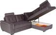 Sedežna Garnitura Falco - temno siva/temno rjava, Moderno, kovina/umetna masa (251/183cm) - Mömax modern living