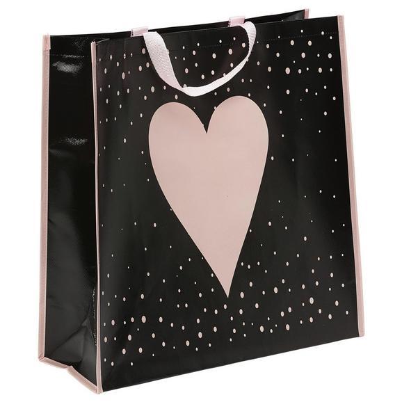 Bevásárlótárska Daisy - Halvány rózsaszín/Fekete, Műanyag (45/47/17,5cm) - Mömax modern living