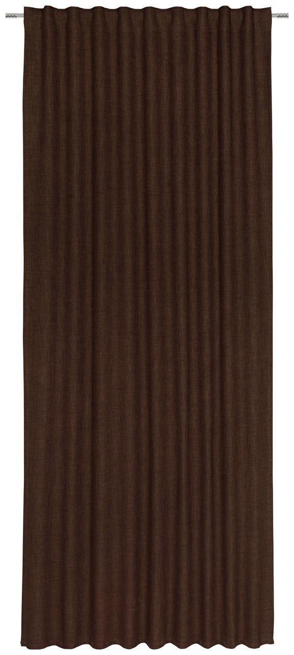 Fertigvorhang Leo, ca. 135x255cm - Braun, Textil (135/255cm) - PREMIUM LIVING