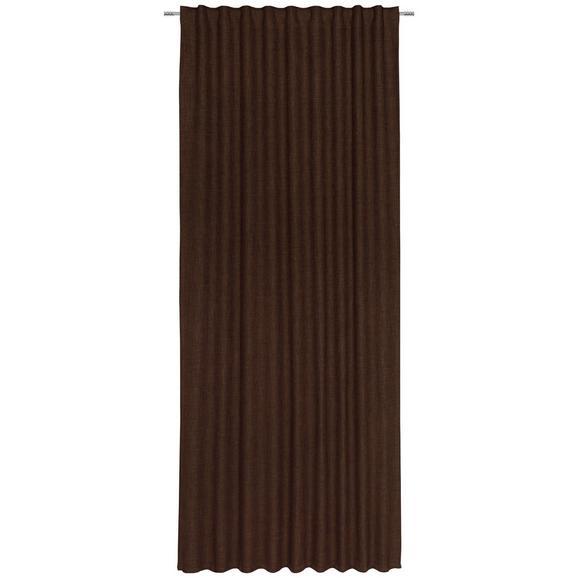 Končana Zavesa Leo -top- - rjava, tekstil (135cm) - Premium Living
