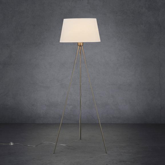 Stehleuchte Gero - Weiß, MODERN, Textil/Metall (40/40/140cm) - Modern Living
