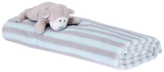 Babydecke Animal Rosa/hellblau - Rosa/Hellblau, Textil (90/75cm) - Mömax modern living