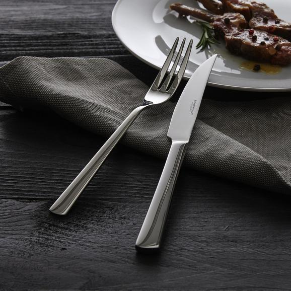 Echtwerk Steakbesteck Sarre 12-tlg. - Edelstahlfarben, MODERN, Metall - Echtwerk