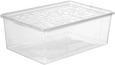 Box mit Deckel Sandra aus Kunststoff - Transparent, Kunststoff (25,8/13,3/39cm) - Mömax modern living