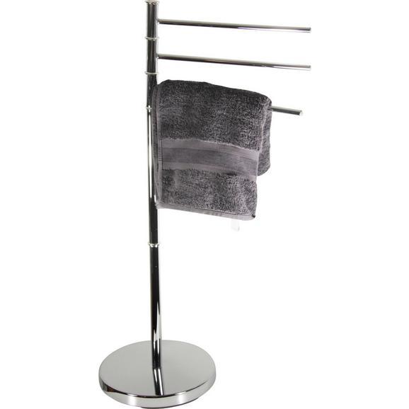 Suport Pentru Prosop Florenz - Argintiu, Konventionell, Metal (27/67/88,5cm) - James Wood