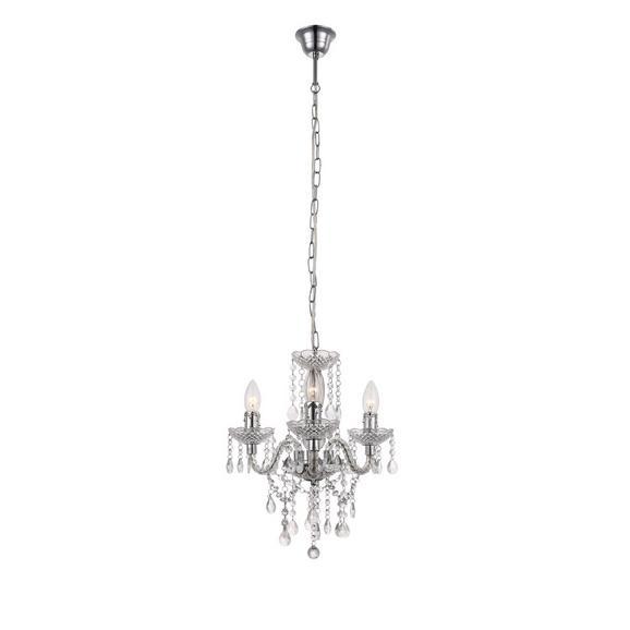 Lustră Isabella - clar/culoare crom, Romantik / Landhaus, plastic/metal (35/125cm) - Modern Living