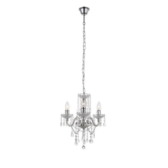 Lustră Isabella - clar/culoare crom, Romantik / Landhaus, plastic/metal (35/125cm) - Mömax modern living